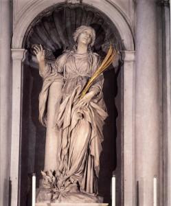Fig. 2. Santa Bibiana en estatua de Bernini de 1626, en su iglesia de Roma.