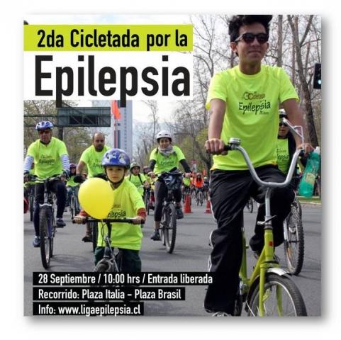 Cientos de personas participaron en la segunda Cicletada Familiar por la Epilepsia.