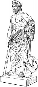 Figura 2. Asclepio (o Esculapio, para los romanos), el dios de la Medicina.